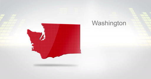 Motion Graphics 3D animation of the american state of Washington Animation
