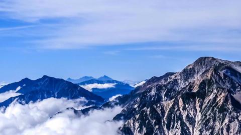 Timelapse-Japanese Northern Alps, Mt yarigatake Footage