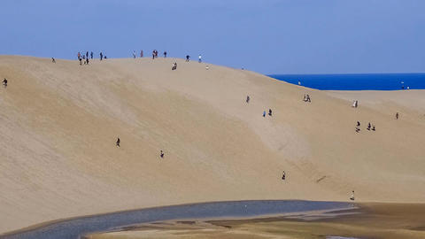 Timelapse-Tottori sand dunes Zoom-up Footage