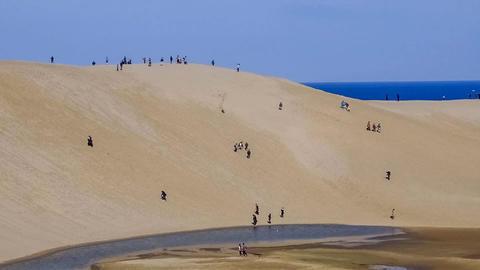 Timelapse-Tottori sand dunes Zoom-up Footage