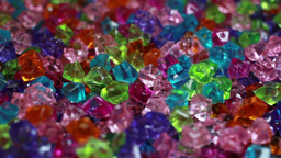 Colorful crystals light shining background Live Action
