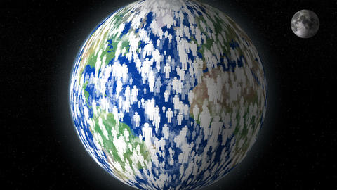 earth human overpopulation distroy planet 11778 Animation