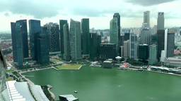 Singapore 041 downtown skyline from skypark hotel Footage