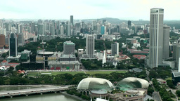 Singapore 043 Esplanade Theatres and cityscape from above Footage