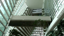 Singapore 049 modern architecture inside Marina Bay Sands luxury hotel Footage