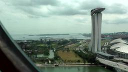 Singapore 015 landmark Marina Bay Sands Skypark from ferris wheel Footage