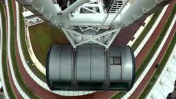 Singapore 028 futuristic architecture of ferris wheel base Footage