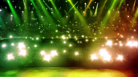 concert stage green spotlight Animation
