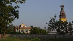 A Temple in Lumbini Development Zone,Lumbini,Nepal Footage
