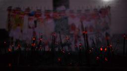 Inscence Sticks In Sacred Garden,Lumbini,Nepal stock footage