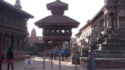 Dattatraya Temples,Bhaktapur,Nepal stock footage