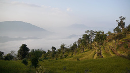 Landscape,Gorkha,Nepal stock footage