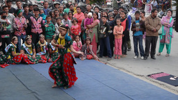 A lady dances on festival ,Pokhara,Nepal Footage