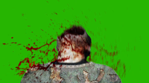 Green Screen Shoot Face Zombie stock footage