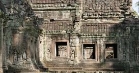 Cambodia Angkor Wat temple ancient ruin buildings Preah Khan Footage