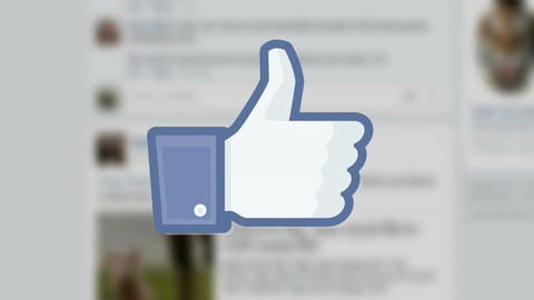 Facebook social media like 'likes' button number counter GIF 動畫