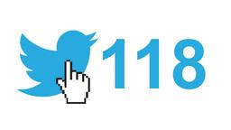 "Twitter social media message button ""tweets"" retweets counter hand cursor ビデオ"