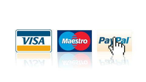 Visa, Mastercard, Paypal logos online shopping payment e-commerce purchase GIF