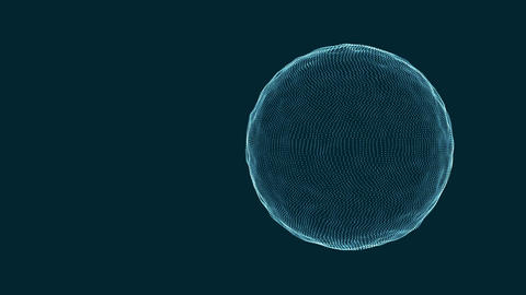 3D sphere morphing and rotating. Technology motion graphics background with copy Animation