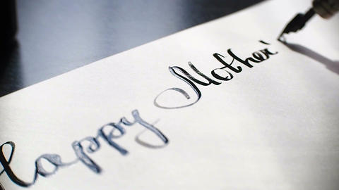 Happy Mother's day calligraphy and lettering post card…, Live Action