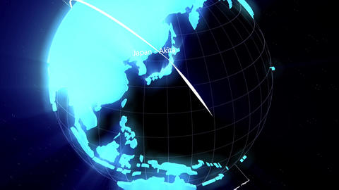 world connection lines Stock Video Footage