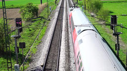 Regional train pass by Footage