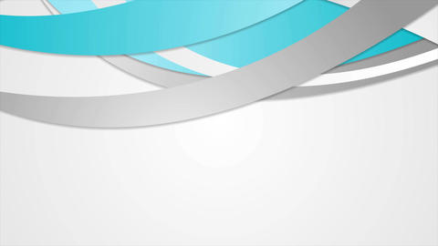 Abstract corporate cyan blue waves video animation Animation