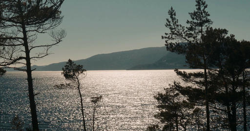 Dawn In Norway And Glitter On Sognefjord, Norway - Cinematic Style
