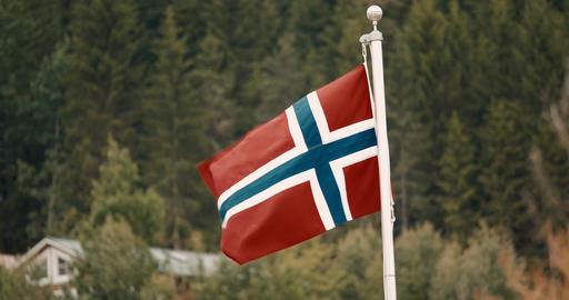Flag Of Norway - Cinematic Style ビデオ