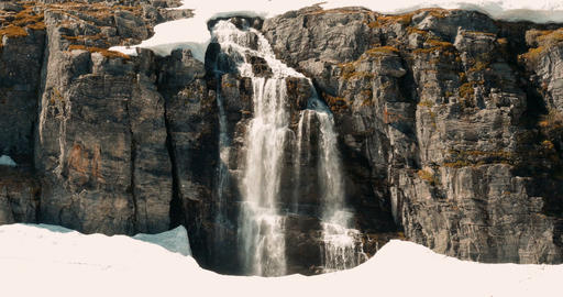 Flotvatnet Waterfall, Norway - Cinematic Style Filmmaterial