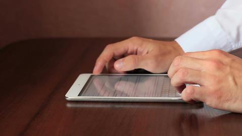Businessman Works For Tablet Footage