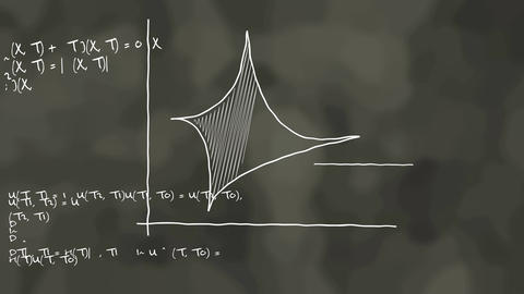 Physic Science concept. High School blackboard Animation