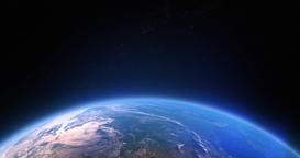 A stunning video of the earth's atmosphere from space with the sun's light s Footage