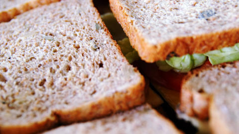 Close-up of sandwich Footage