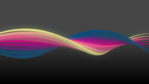 Colorful line art flowing from left to right CG動画