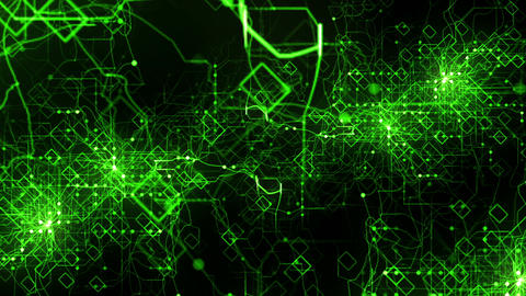 Green - Image of the network Animation