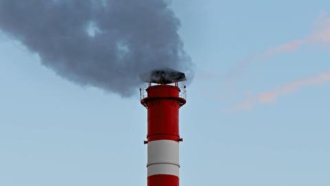4K Chimney Smoke / Smoke Stack / Air Pollution Footage
