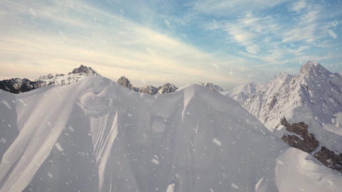 Winter Mountain Ranges - Loopable Motion Background... Stock Video Footage