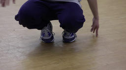 Break Dance Footwork Style Stock Video Footage