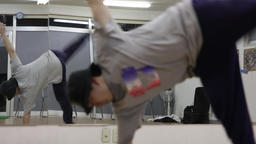 Break Dance Steppin (One Hand Hop) Style Stock Video Footage
