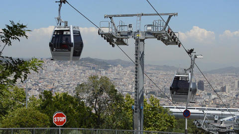 Aerial Tramway And High Density City Footage