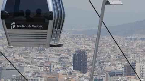 Barcelona Emblematic Iconic Landscape Footage