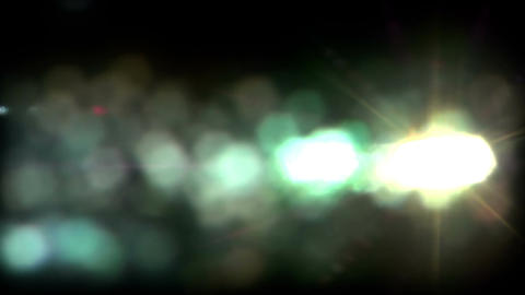 Real Light Leaks and Bokeh - Loop 16 - Green - Slow Animation