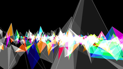 Digital abstract 06 sound react Animation