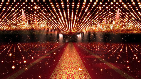 4 K Red Carpet Festival Glamour Scene with Fireflies 4 Animation