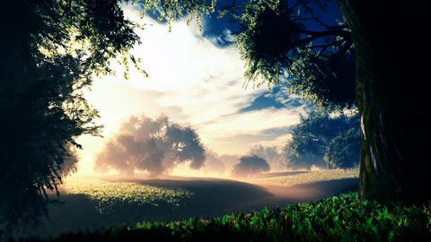 Amazing Natural Wonderland in the Sunset Sunrise 2 Animation