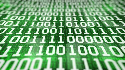 Closeup Of Binary Code stock footage