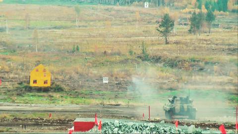 Firing anti-tank grenade from the tank Footage
