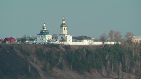 Cvyato-Znamensky Abalaksky man's monastery Footage