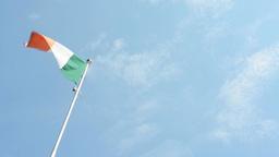 Italian flag - blue sky - sunny Footage
